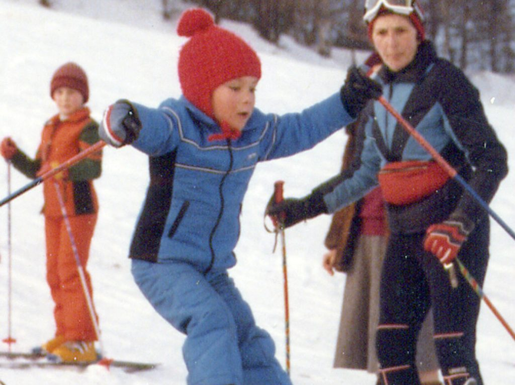 Mitch skiing around 1979